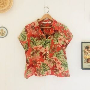 Tommy Bahama • Silk Button Tropical Button Down